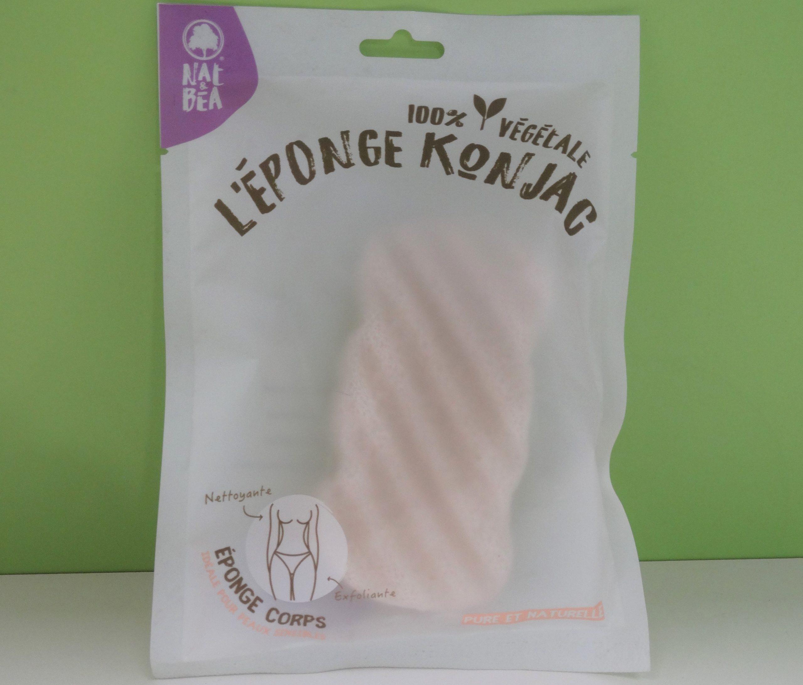 Éponge Konjac pour Corps et Visage Exfoliation naturelle et nettoyage des pores en profondeur Pour Tous Les Types de Peau en 100% Pure Naturelle Extra Doux Nettoyante.