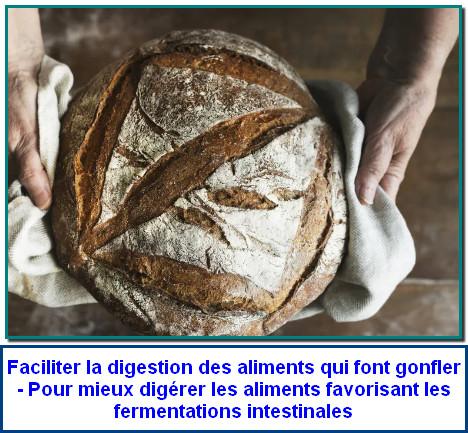 Faciliter la digestion des aliments qui font gonfler - Pour mieux digérer les aliments favorisant les fermentations intestinales