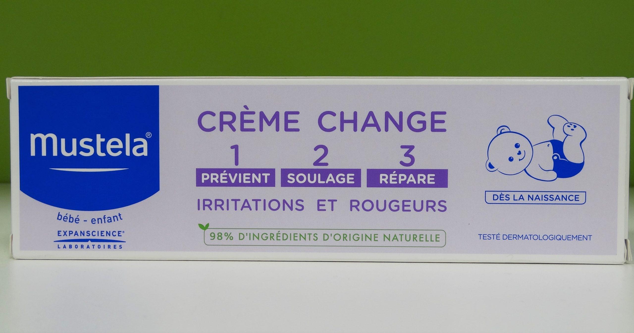 Mustela - Bébé crème change 1-2-3 - 50 ml Soin complet de l'épiderme fessier dès la naissance : préviens, soulage et répare