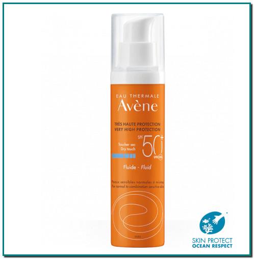 AVÈNE Au cœur du Fluide SPF 50+, l'association exclusive Sunsitive® protection, issue de la Recherche Pierre Fabre