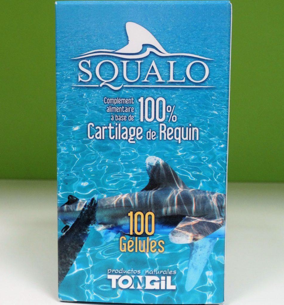 Tongil Squalo Cartilage de Requin 100 capsules le cartilage de Requin 750 mg de Tongil est un complément qui, avec d'autres glycosaminoglycanes, en fait une source idéale de nutriments pour les articulations.