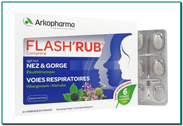 Flash'rub est un complément alimentaire à prendre dès les premiers signes d'encombrement des voies respiratoires, d'irritation de la gorge et de désagréments hivernaux.