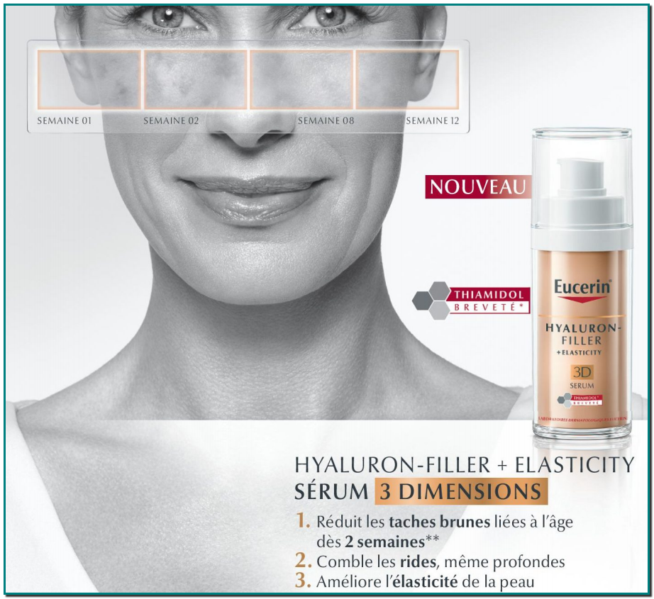 Soin anti-rides EUCERIN HYALURON-FILLER Soin cutané anti-âge comblant efficacement les rides